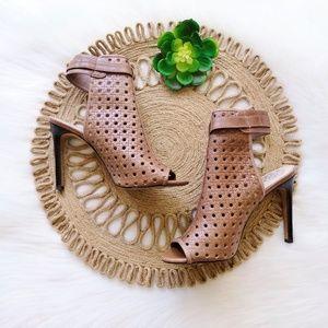 Vince Camuto 'Karsten' Leather Weave Sandal Heel